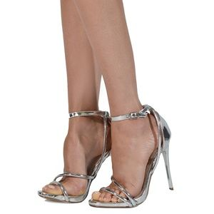 Shoe Republic Rosslyn Buckle Closure Ankle Heels